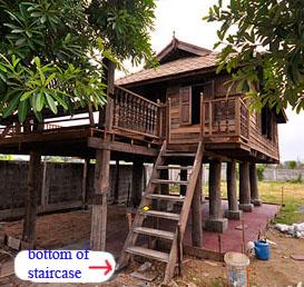 bottom of Thai stairs