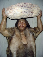 manly caveman