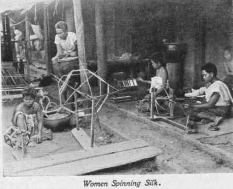 Siamese_women_spinning_silk