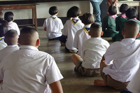 Thai school pupils haircuts