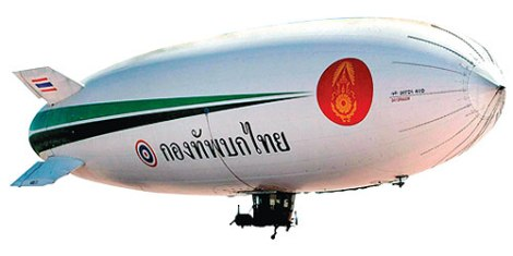 Thai Army's 350 million baht airship